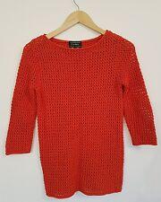 Ralph Lauren top jumper sweater knit size M orange/red