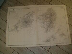 Vintage Admiralty Chart 1837 GREECE - PAROS & NAXOS 1863 edn
