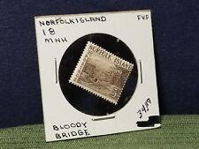 Australia Norfolk Island SG18 5/. Bloody Bridge Light Brown MNH