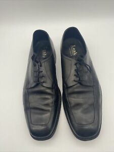 Mens Loakes Black Leather Elland Smart Black Shoes Made In England Size UK 8 1/2