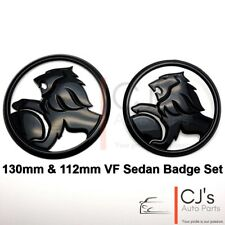 Holden Lion Gloss Black Front Rear Badge Fits VF SS SV6 Calais Commodore Sedan