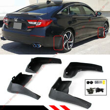 FOR 2018-19 HONDA ACCORD 4DR SEDAN 4 PCS FRONT + REAR SPLASH GUARD MUD FLAPS SET