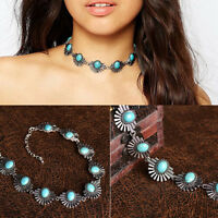 Women Charm Crystal Jewelry Pendant Chain Choker Chunky Statement Bib Necklace