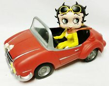 Extremely Rare! Betty Boop Riding Her Cabrio Sports Car Figurine Statue