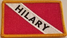 Hilary Scuba Flag Iron-On Patch Morale Tactical Travel Emblem Version #20