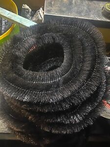 2.5 Meters of 75mm black gutter brush