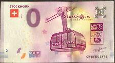 BILLET 0 ZERO EURO SOUVENIR TOURISTIQUE STOCKHORN 2018-1