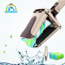 Boomjoy hands free twist floor cleaning mop/ 360 swivel microfiber flat mop