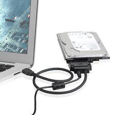 "USB 3.0 to SATA 22pin Data Cable 12V/2A Power Adapter For 3.5"" 2.5"" SATA HDD Win"