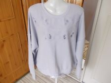 NEW LOOK COTTON/POLYESTER LILAC TIE HEM SWEATSHIRT/JUMPER SIZE 18