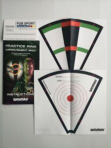 5 X Winmau Darts Simon Whitlock Practice Targets. Improvement Training New