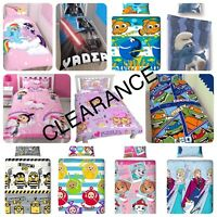 *LAST STOCK* Clearance Disney Character Kids Bedding Single Duvet Cover Bed Set