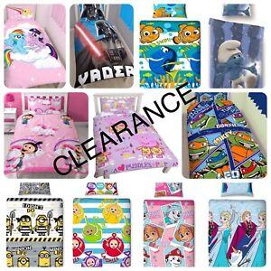 *LAST STOCK* Disney Character Kids Bedding Single & Double Duvet Cover Bed Set