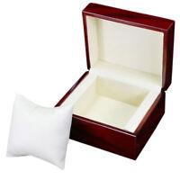 Single Wooden Watch Box Wine Red Watch Storage Box Gift Box Display Cabinet W3Q6