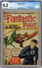 Fantastic Four #10 CGC 4.5 1963 3745379024