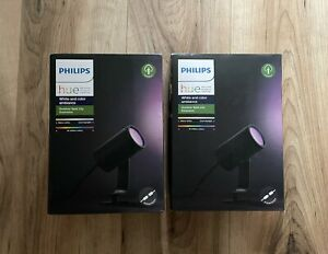 2 X Philips Hue Colour Ambiance Single Lily Spotlight Extension *new & Sealed*