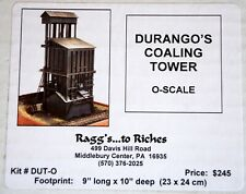 """Raggs to Riches Durango Coaling Tower Footpring 9""""x10"""" O On3 On30"""
