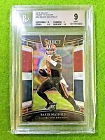 BAKER MAYFIELD PRIZM ROOKIE CARD GRADED 9 BGS 10 CENTERING # /199 RC 2018 Select