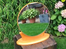 Mid Century Modern Vintage Teak Dressing Table Mirror Danish Style Adjustable