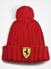 HAT Scuderia Ferrari Beanie Bobble Pom-Pom Knitted Formula One 1 Scudetto NEW!