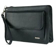 Visconti 02617 Men Black Genuine Leather Wrist Bag Travel Clutch Case Holder