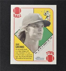 2015 Topps Heritage '51 Collection Mini Red Back #49 Zack Greinke - NM-MT