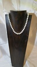 LADIES CULTURED FRESHWATER PEARL & CRYSTAL NECKLACE STUNNING PRESENTATION: NWT