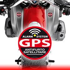 2 ADESIVI ANTIFURTO SATELLITARE - GPS - moto BMW - stickers ALARM SYSTEM