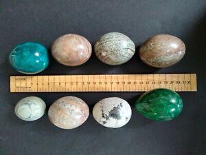 8 x egg shaped semi precious stones