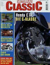 Motorrad Classic 3/99 1999 Bimota Ariel Arrow Honda Dream C77 Kawasaki Drifter