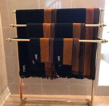 Yves Saint Laurent Vintage Towel Set Fieldcrest 1970's 100% Cotton Brown YSL