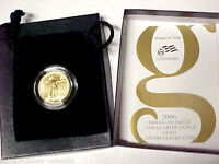 2006-W $10 American Gold Eagle 1/4 oz Burnished Gold With Box and COA