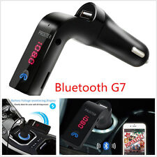 12V Car LCD Wireless Bluetooth G7 WMA MP3 Player FM Transmitter Handfree AUX Kit