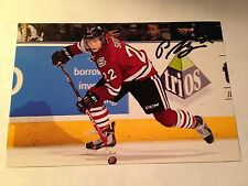 Pius Suter SIGNED 4x6 photo GUELPH STORM / SWITZERLAND
