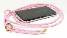 Handykette mit Smartphone Hülle Handyhülle zum umhängen Case Gold Rose Pink