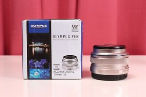 Olympus M.Zuiko Digital 17mm 1:1.8 EW-M1718 Wide Angle Lens EXC w BOX