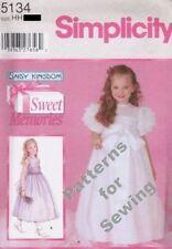 Pattern Simplicity Sewing Girl Daisy Kingdom Flower Dress Sz 7-14 OOP