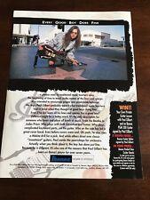 1994 8X11 PRINT Ad IBANEZ GUITARS MR. BIG'S PAUL GILBERT HOLLYWOOD WALK OF FAME