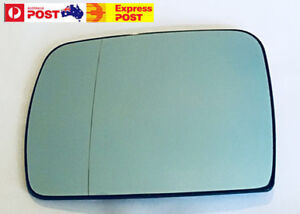 Left side mirror glass to suit BMW X5 E53 2000-2006 Blue Heated Convex base
