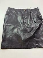 BNWT WOMENS MOSCHINO JEANS BLACK CASUAL FAUX CROC LOOK SHORT SKIRT SIZE 16