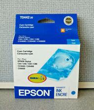 Genuine Epson T0442 Cyan DURABrite Ink Cartridge for Epson Stylus C64 - CX6600