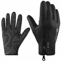 RockBros Cycling Sport Winter Thermal Warm Touch Screen Black Full Finger Gloves