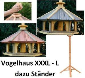 Vogelhaus mit Einsatz zum Füttern XXXL-L ,Vogelhäuschen,Futtersilo,Vogelstation