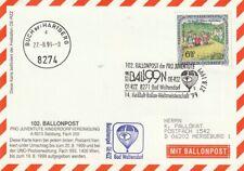 BPÖ_138 Österreich: 102. Ballonpost Bad Waltersdorf => Buch 27.08.1999