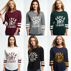 New Womens Superdry Baseball Tops Various Styles and Colours