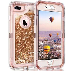 For iPhone 12 6 7 8 Plus 11 Pro X XR Max Hard Liquid Glitter Shockproof Case