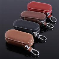 New Fashion Leather Car Key Chain Ring Keychain Case Holder Zipped Bag Purse QP