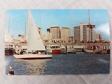 Corpus Christi Texas Yacht Basin Sailboats Powerboats Buildings Bird on post