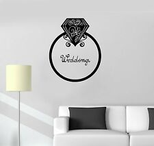 Vinyl Decal Ring Wedding Palace Bridal Shop Decoration Wall Stickers (ig3507)