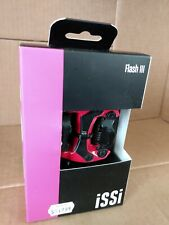 iSSi Flash III Pedals - Dual Sided Clipless Aluminum 9/16 ESPECIALLY RED SPD